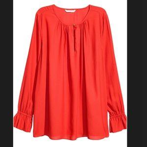 H&M Ruffled Sleeve Blouse - BNWT!!